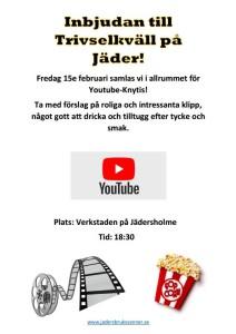 Inbjudan Trivselkväll o Youtube-knytis