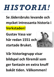Skylt Historia A3
