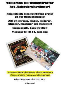 Bakluckeloppis på Jädersholme