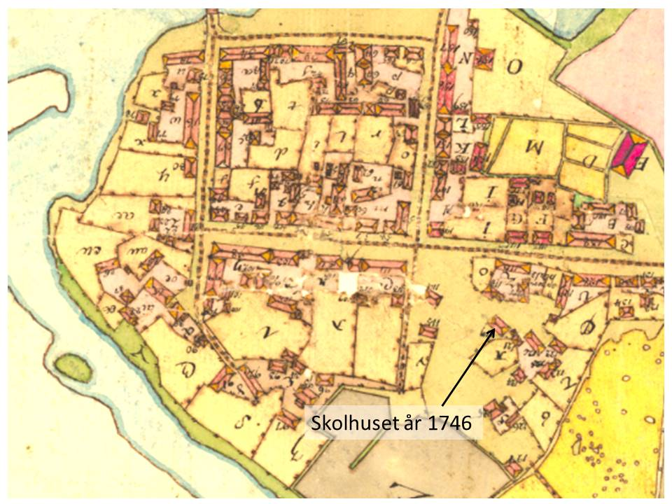 Karta Skolhus 1746