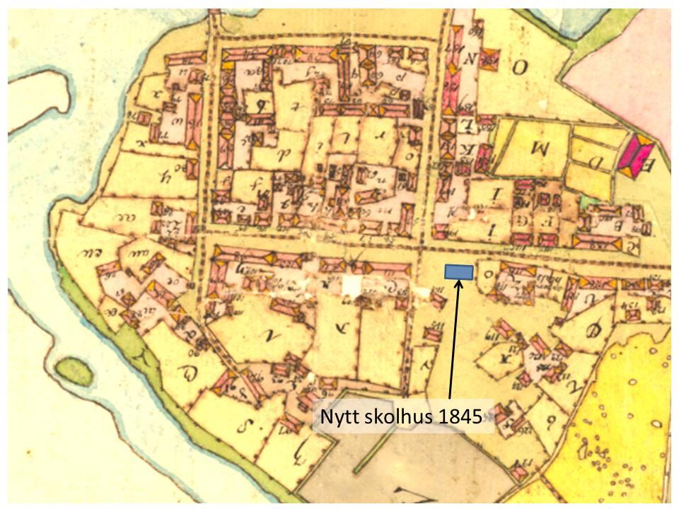 Karta Skolhus 1845