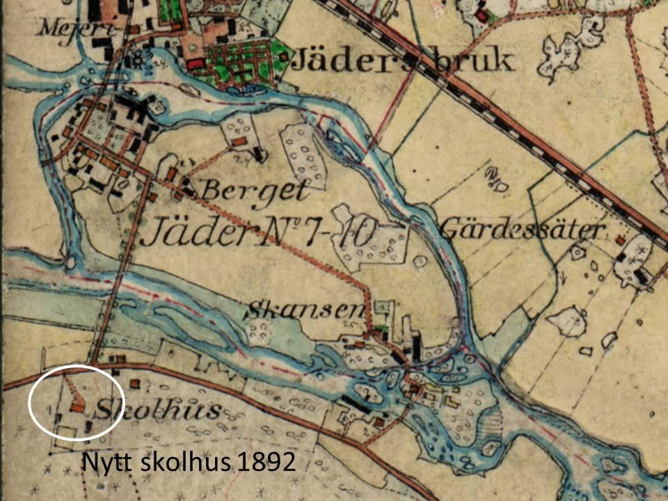 Karta Skolhus 1892